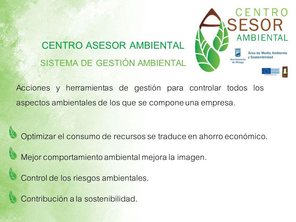 Acciones y herramientas de gestión para controlar todos los aspectos ambientales de los que se compone una empresa. Optimizar el consumo de recursos s