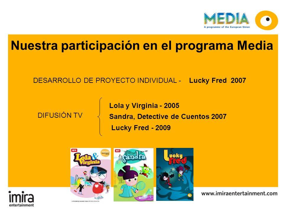 Nuestra participación en el programa Media DESARROLLO DE PROYECTO INDIVIDUAL - Lucky Fred 2007 Lola y Virginia - 2005 Sandra, Detective de Cuentos 200