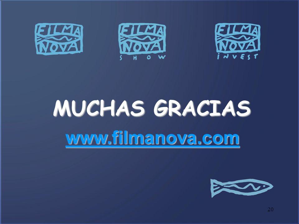 MUCHAS GRACIAS www.filmanova.com 20