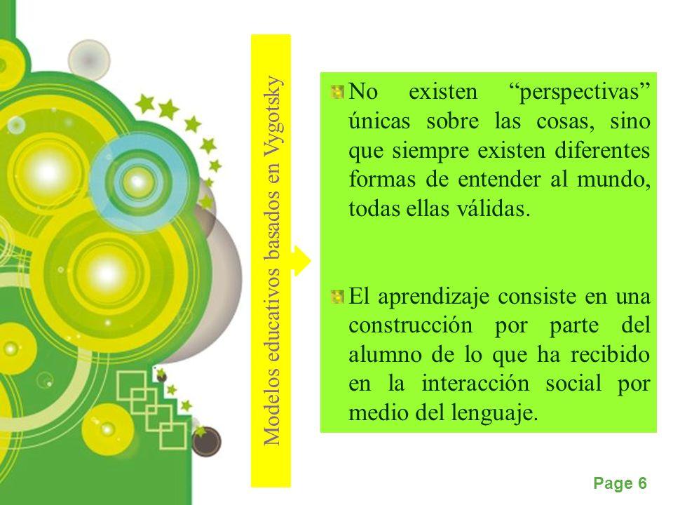 Powerpoint Templates Page 7 Constructivismo y proceso de aprendizaje El nuevo constructivismo parte de ciertos principios básicos para el diseño de los nuevos modelos de enseñanza a saber: Procesa la información de manera simultanea ya sean pensamientos, emociones o conocimientos culturales.