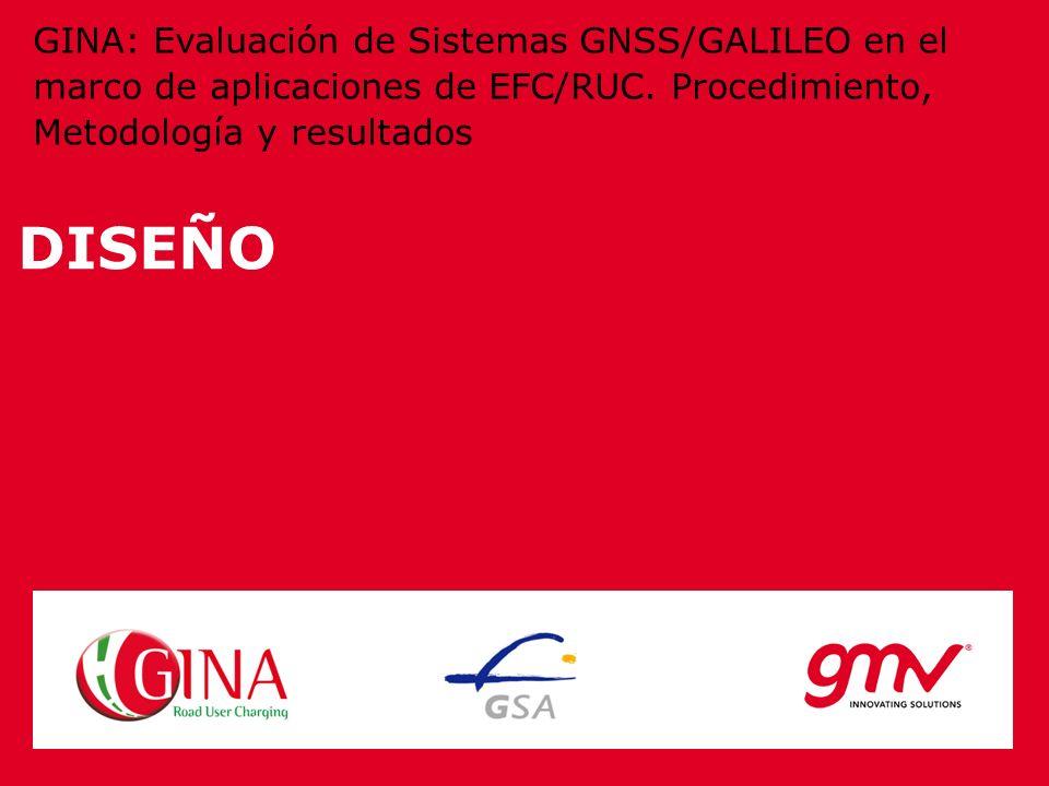 DISEÑO GINA: Evaluación de Sistemas GNSS/GALILEO en el marco de aplicaciones de EFC/RUC. Procedimiento, Metodología y resultados