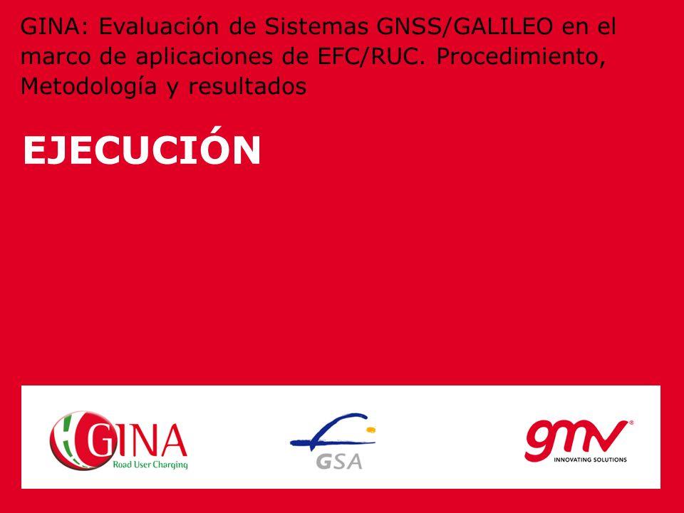 EJECUCIÓN GINA: Evaluación de Sistemas GNSS/GALILEO en el marco de aplicaciones de EFC/RUC. Procedimiento, Metodología y resultados
