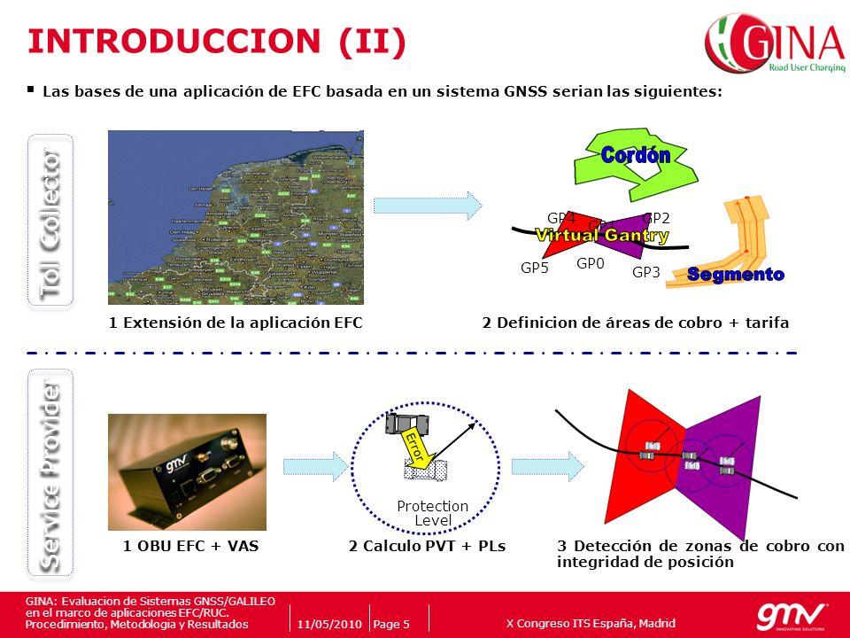 X Congreso ITS España, Madrid Companys logo 11/05/2010Page 5 GINA: Evaluacion de Sistemas GNSS/GALILEO en el marco de aplicaciones EFC/RUC. Procedimie