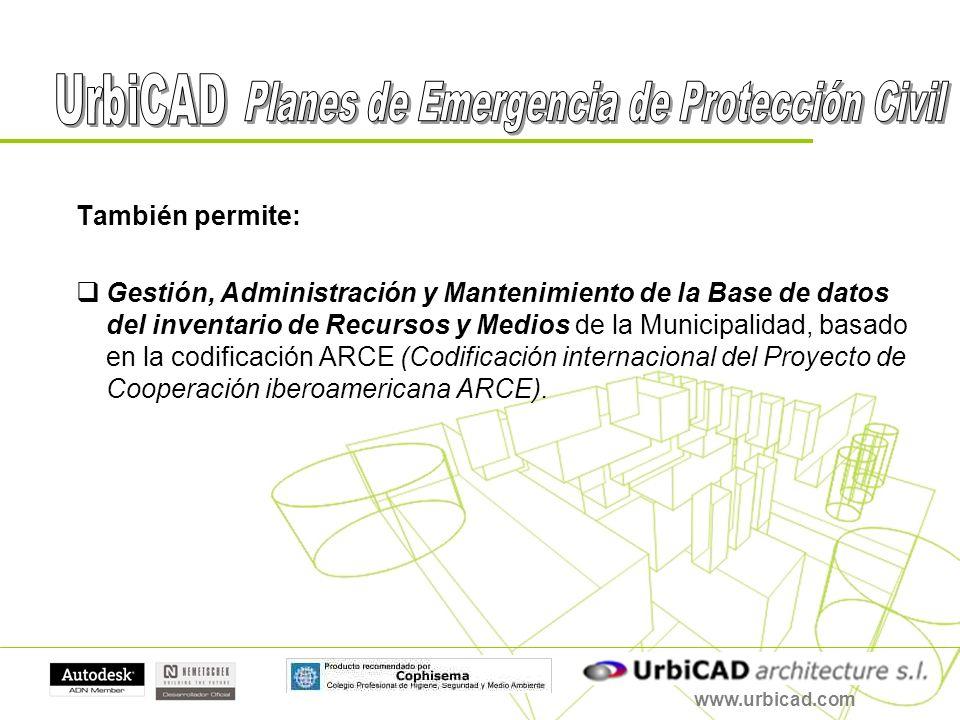 También permite: Gestión, Administración y Mantenimiento de la Base de datos del inventario de Recursos y Medios de la Municipalidad, basado en la cod