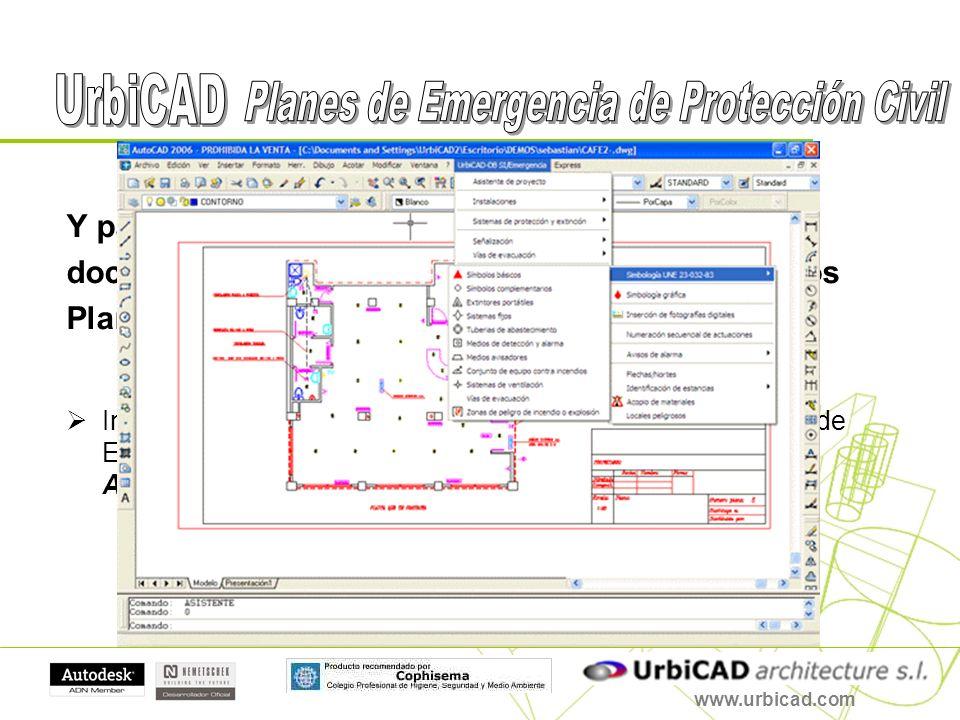 Y para finalizar, además de poder desarrollar los documentos, se pueden igualmente desarrollar los Planos necesarios. Incluye herramientas para desarr