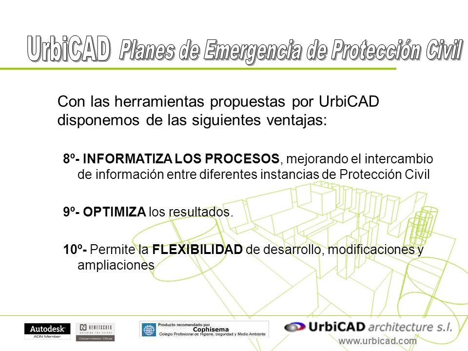 www.urbicad.com Con las herramientas propuestas por UrbiCAD disponemos de las siguientes ventajas: 8º- INFORMATIZA LOS PROCESOS, mejorando el intercam