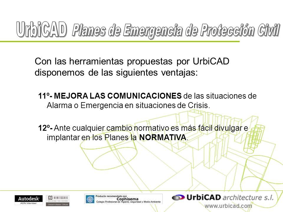 www.urbicad.com Con las herramientas propuestas por UrbiCAD disponemos de las siguientes ventajas: 11º- MEJORA LAS COMUNICACIONES de las situaciones d