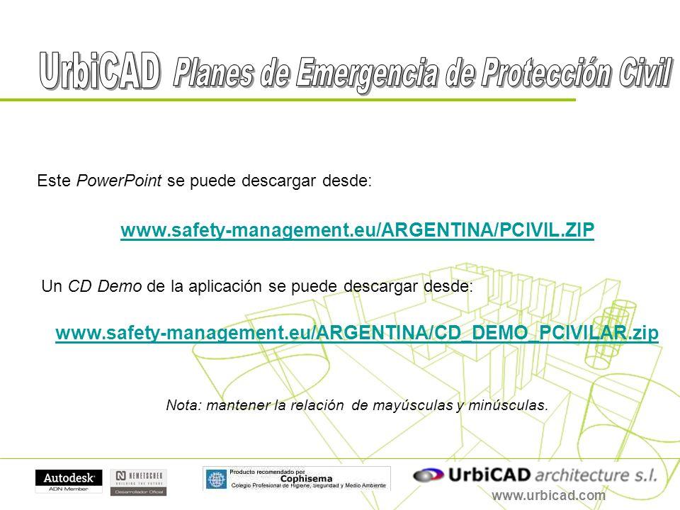 Este PowerPoint se puede descargar desde: www.safety-management.eu/ARGENTINA/PCIVIL.ZIP Un CD Demo de la aplicación se puede descargar desde: www.safe
