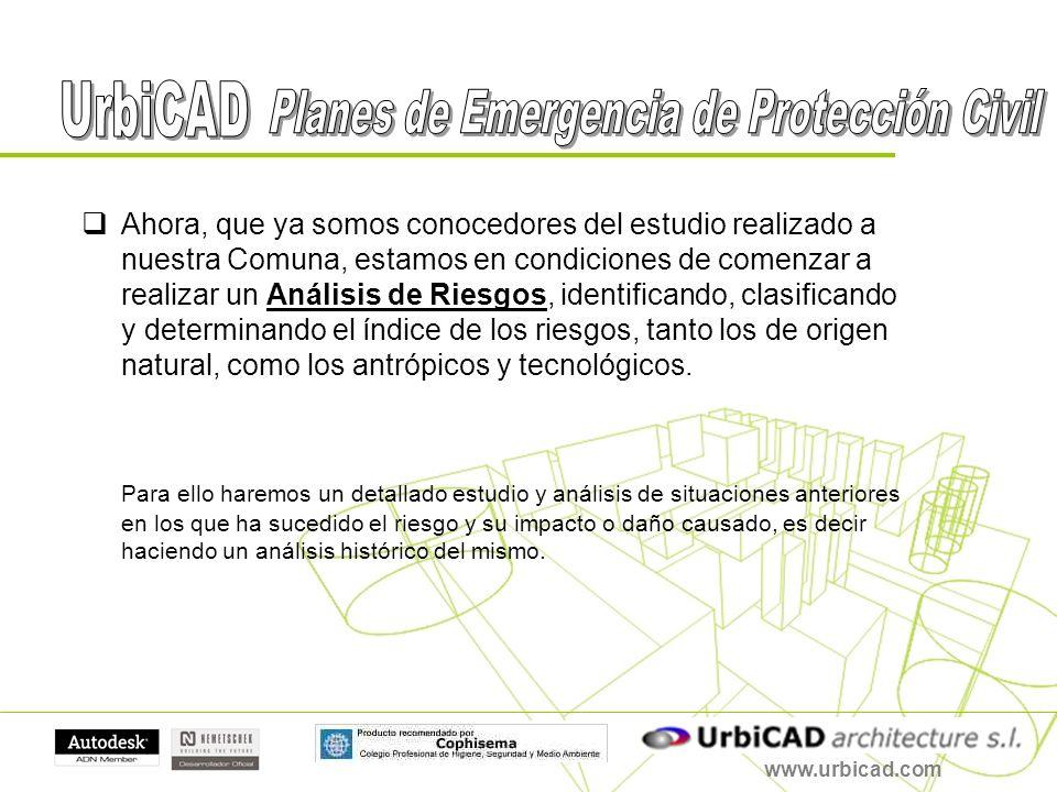 www.urbicad.com Ahora, que ya somos conocedores del estudio realizado a nuestra Comuna, estamos en condiciones de comenzar a realizar un Análisis de R