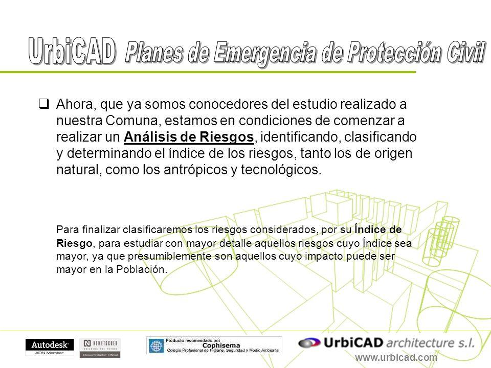 www.urbicad.com Continuaremos estableciendo la Estructura del Plan de Emergencia de Protección Civil.