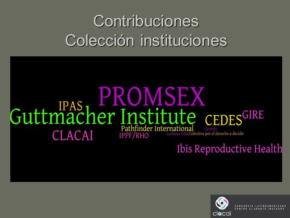 Contribuciones Colección instituciones
