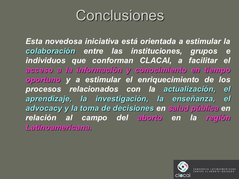 Conclusiones colaboración acceso a la información y conocimientoen tiempo oportuno actualización, el aprendizaje, la investigación, la enseñanza, el a