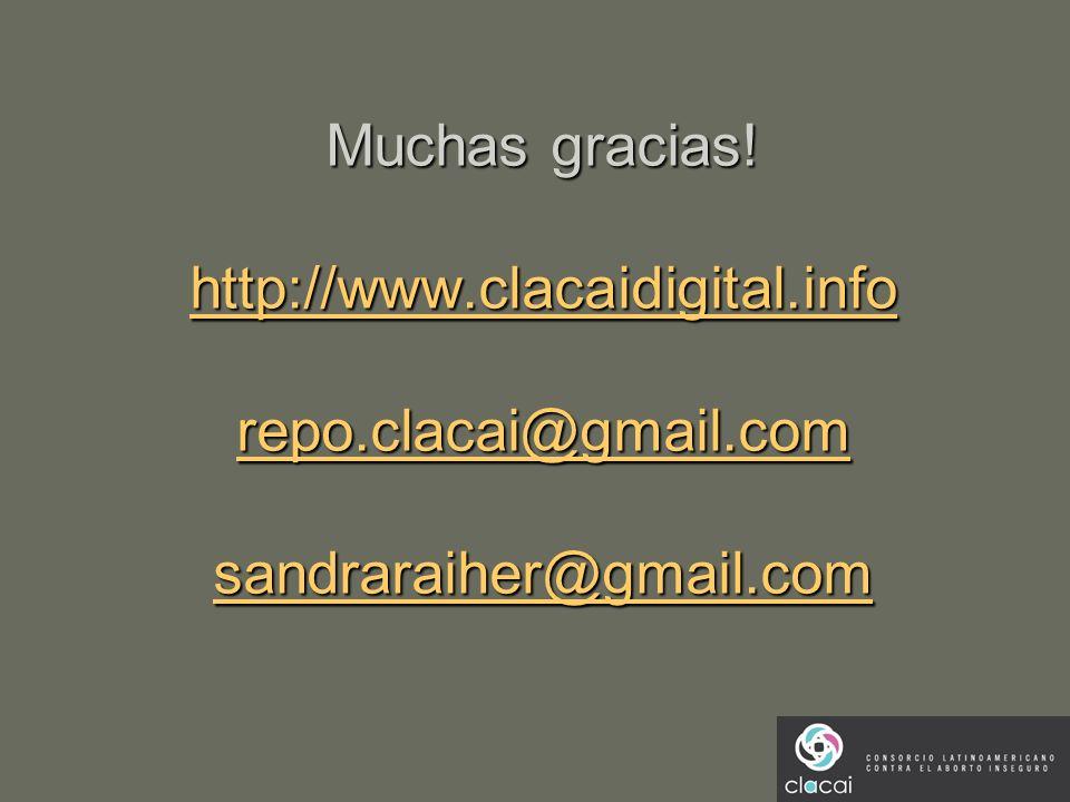 Muchas gracias! http://www.clacaidigital.info repo.clacai@gmail.com sandraraiher@gmail.com http://www.clacaidigital.info repo.clacai@gmail.com sandrar