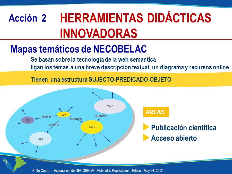 HERRAMIENTAS DIDÁCTICAS INNOVADORAS Se basan sobre la tecnología de la web semantica ligan los temas a una breve descripción textual, un diagrama y re