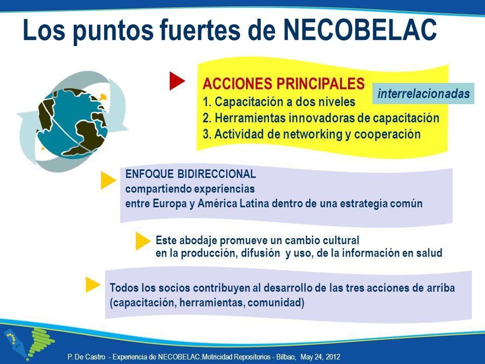 Los puntos fuertes de NECOBELAC Este abodaje promueve un cambio cultural en la producción, difusión y uso, de la información en salud ENFOQUE BIDIRECC