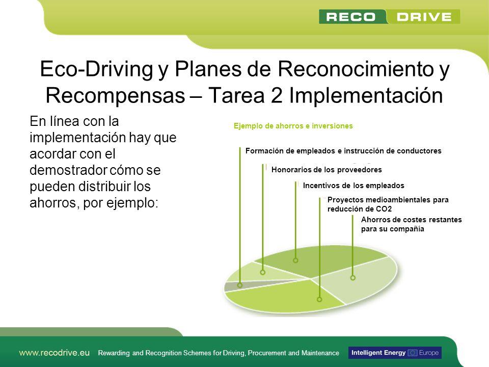 Rewarding and Recognition Schemes for Driving, Procurement and Maintenance Eco-Driving y Planes de Reconocimiento y Recompensas – Tarea 2 Implementaci