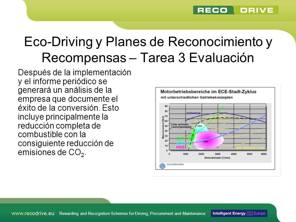 Rewarding and Recognition Schemes for Driving, Procurement and Maintenance Eco-Driving y Planes de Reconocimiento y Recompensas – Tarea 3 Evaluación D