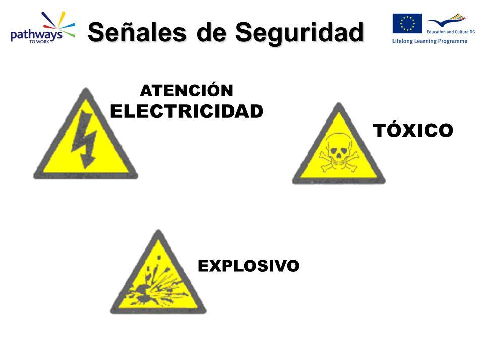 TÓXICO EXPLOSIVO ATENCIÓN ELECTRICIDAD Señales de Seguridad