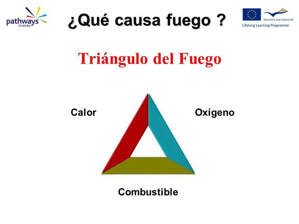 Triángulo del Fuego ¿Qué causa fuego ? OxígenoCalor Combustible
