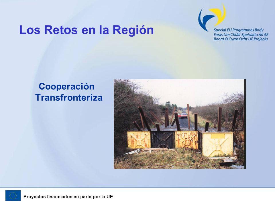 Proyectos financiados en parte por la UE Los Retos en la Región Cooperación Transfronteriza