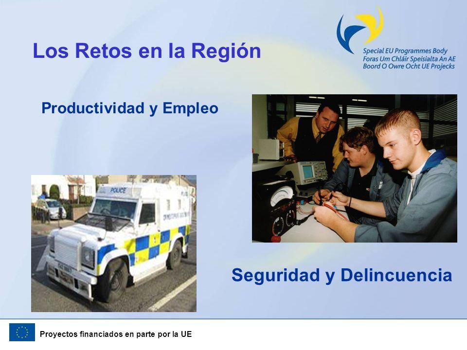 Proyectos financiados en parte por la UE Los Retos en la Región Productividad y Empleo Seguridad y Delincuencia