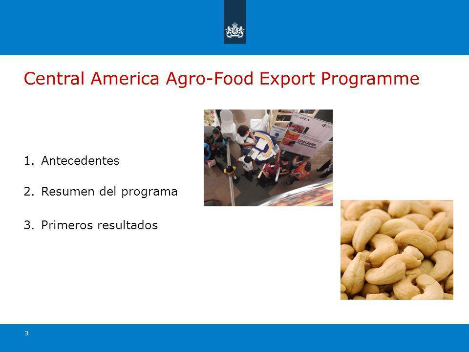 14 Productos de las 30 empresas aplicantes de El Salvador