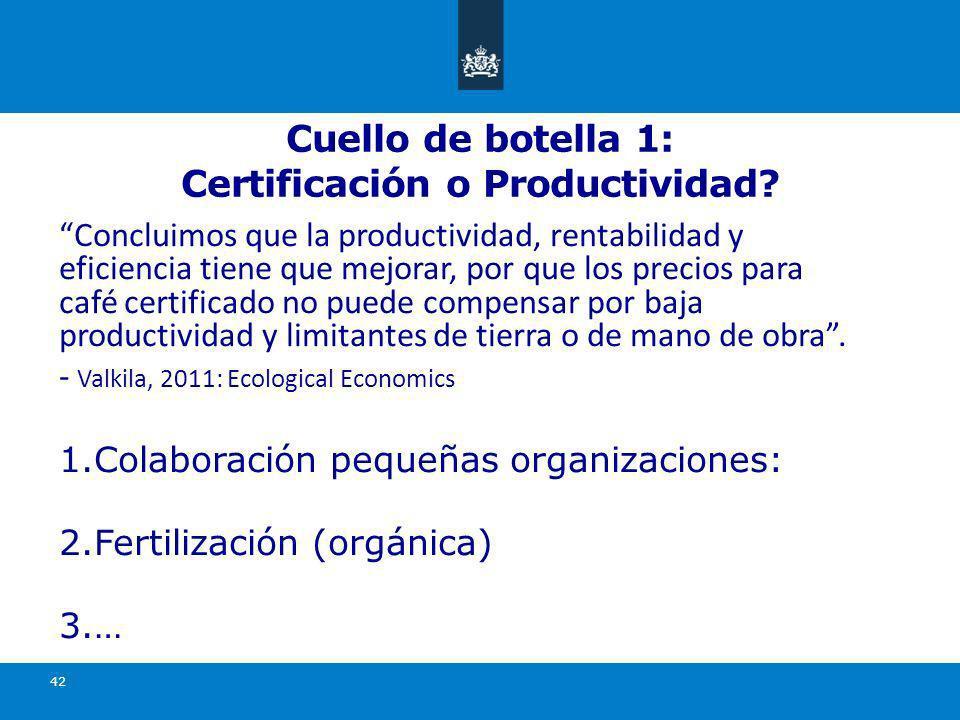 Cuello de botella 1: Certificación o Productividad.