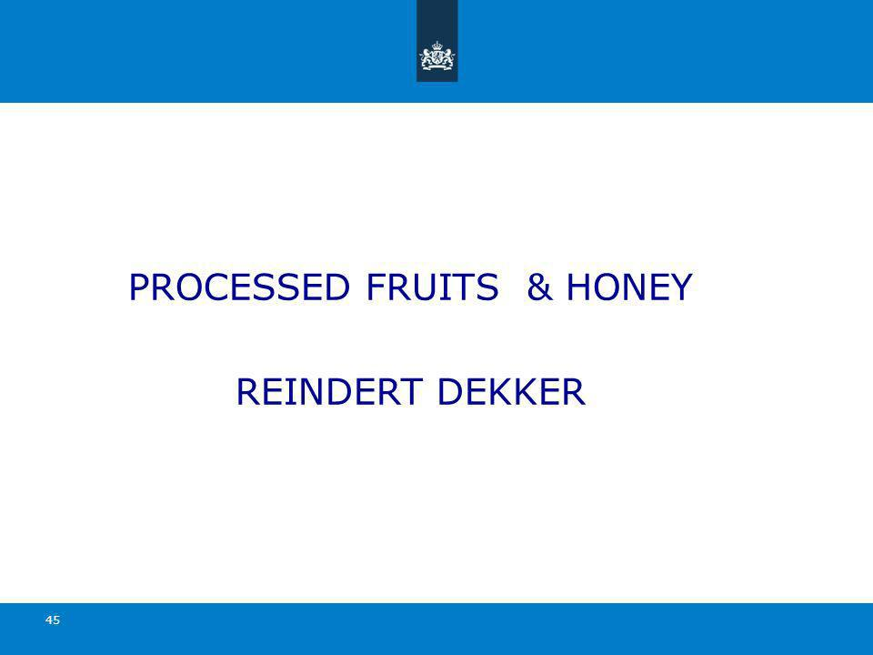 PROCESSED FRUITS & HONEY REINDERT DEKKER 45