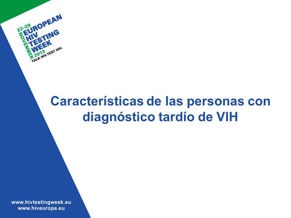 Características de las personas con diagnóstico tardío de VIH