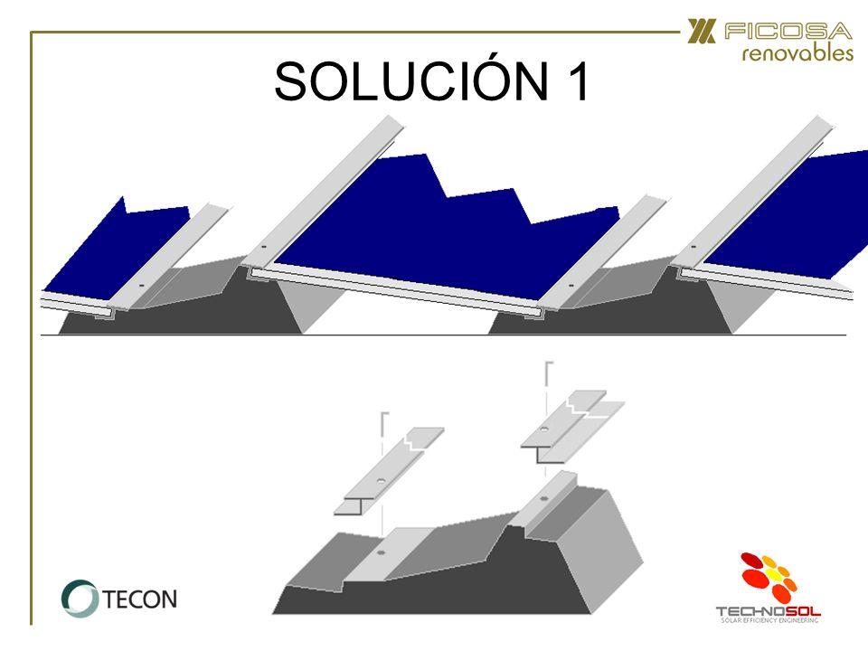 SOLUCIÓN 2 Bases Perfil de PVC Soldado.–Para cubiertas de lámina de PVC.