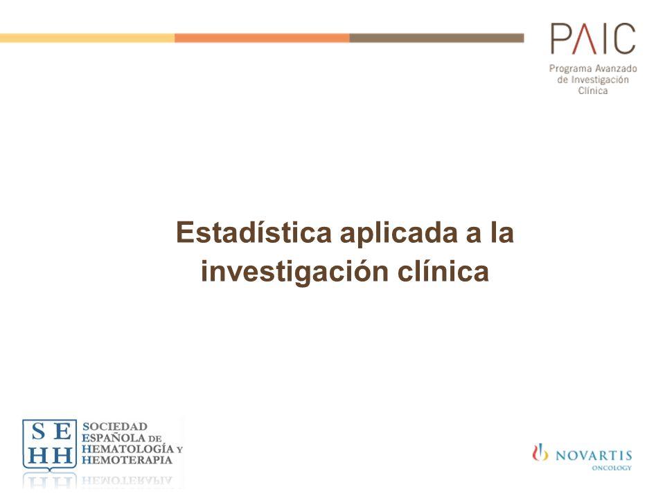 Estadística aplicada a la investigación clínica