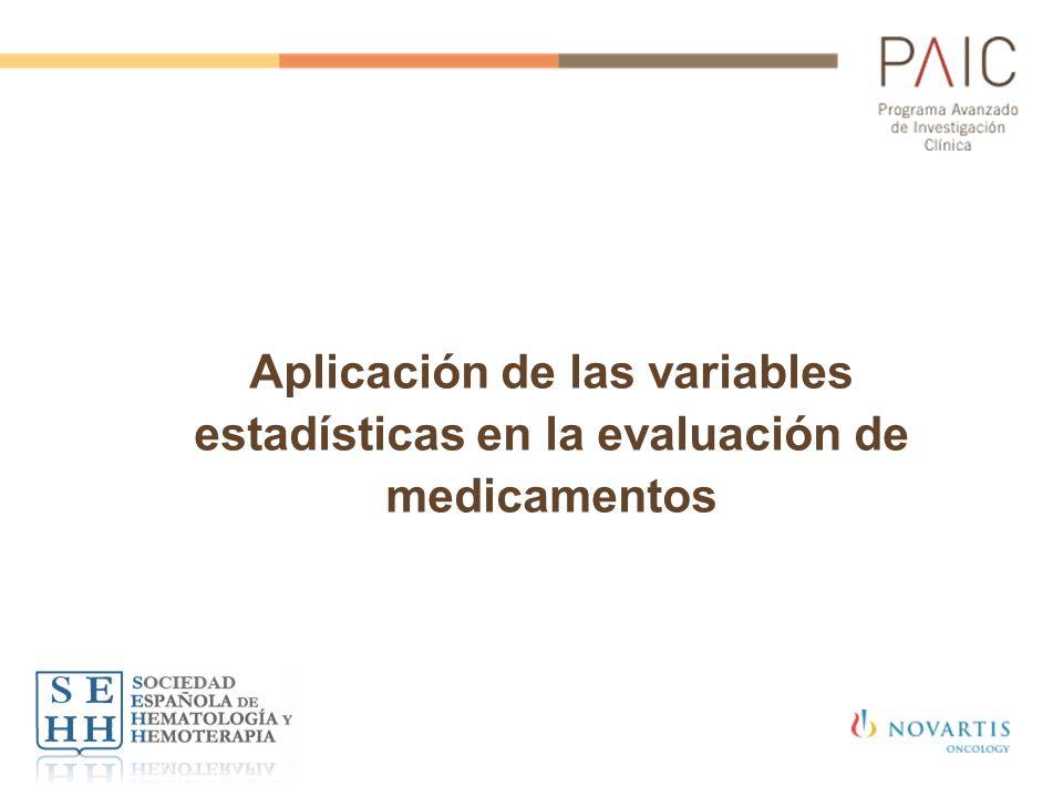 Aplicación de las variables estadísticas en la evaluación de medicamentos
