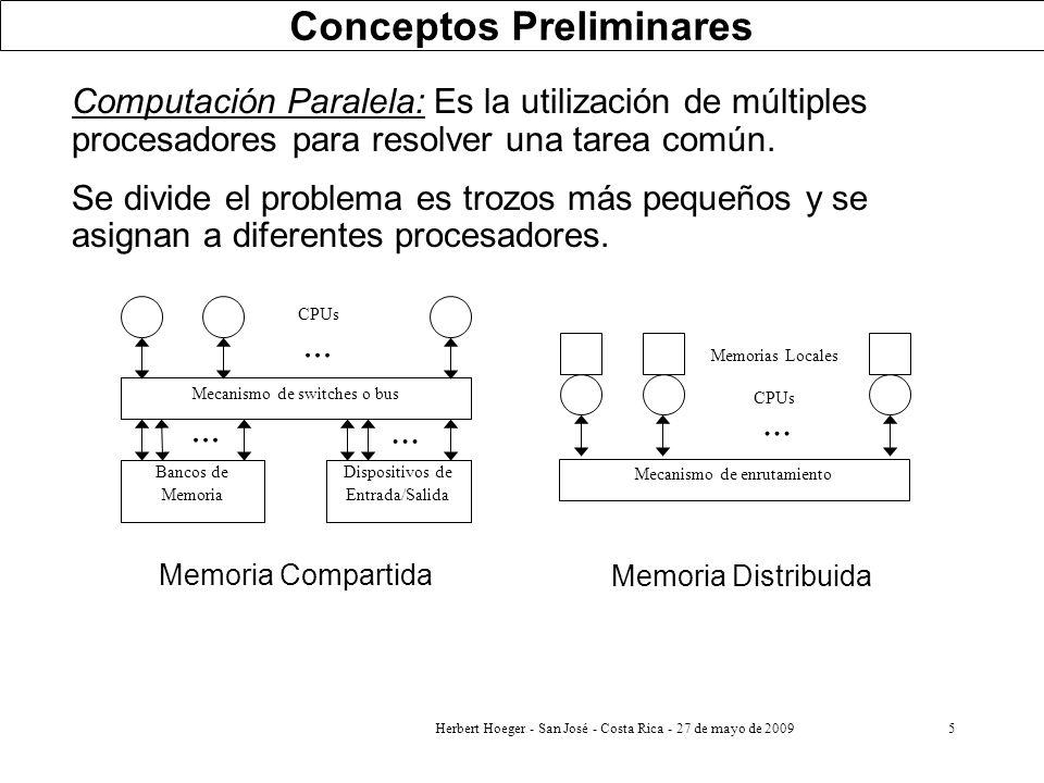 5 Computación Paralela: Es la utilización de múltiples procesadores para resolver una tarea común. Se divide el problema es trozos más pequeños y se a