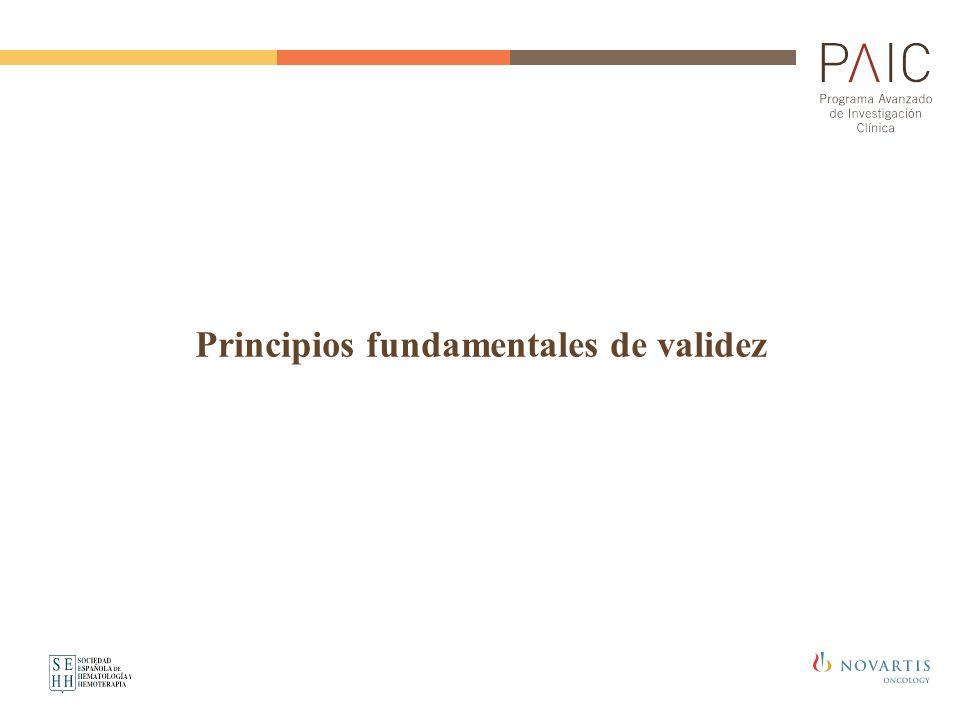 Principios fundamentales de validez