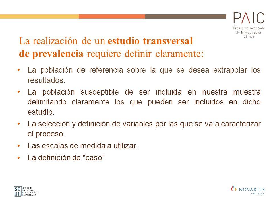 La población de referencia sobre la que se desea extrapolar los resultados. La población susceptible de ser incluida en nuestra muestra delimitando cl