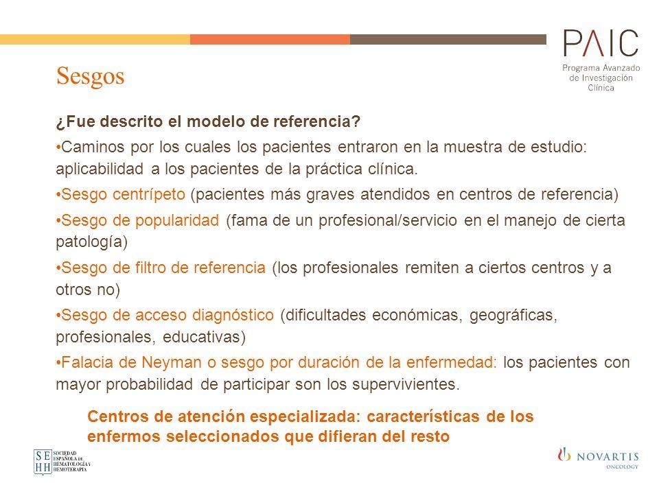 ¿Fue descrito el modelo de referencia? Caminos por los cuales los pacientes entraron en la muestra de estudio: aplicabilidad a los pacientes de la prá