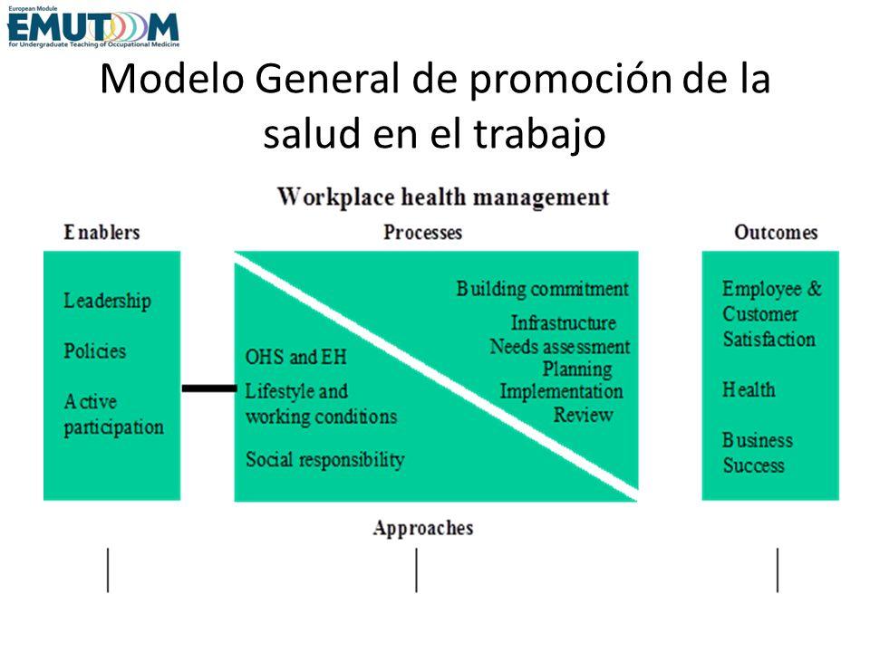 Modelo General de promoción de la salud en el trabajo