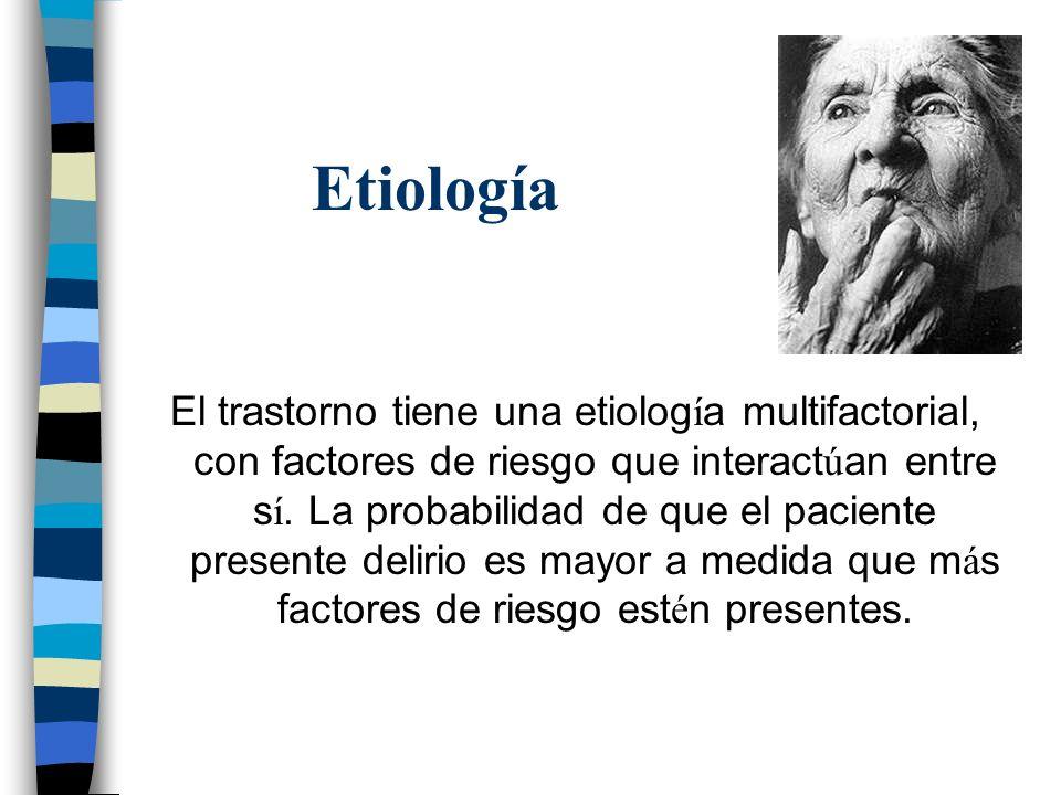 Etiología El trastorno tiene una etiolog í a multifactorial, con factores de riesgo que interact ú an entre s í. La probabilidad de que el paciente pr