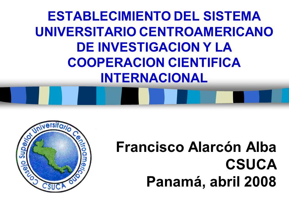 Estructura regional para fomento de la investigación universitaria centroamericana(6) 2.
