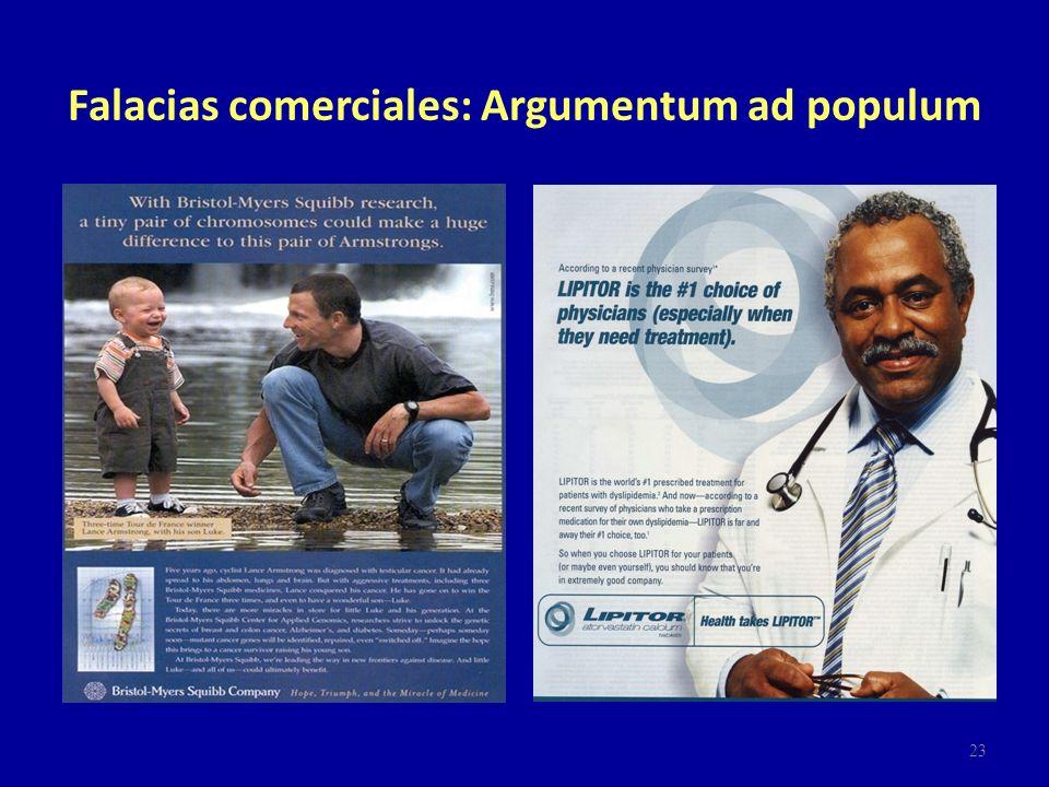 Falacias comerciales: Argumentum ad populum 23