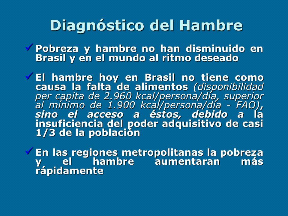 Diagnóstico del Hambre Pobreza y hambre no han disminuido en Brasil y en el mundo al ritmo deseado Pobreza y hambre no han disminuido en Brasil y en e