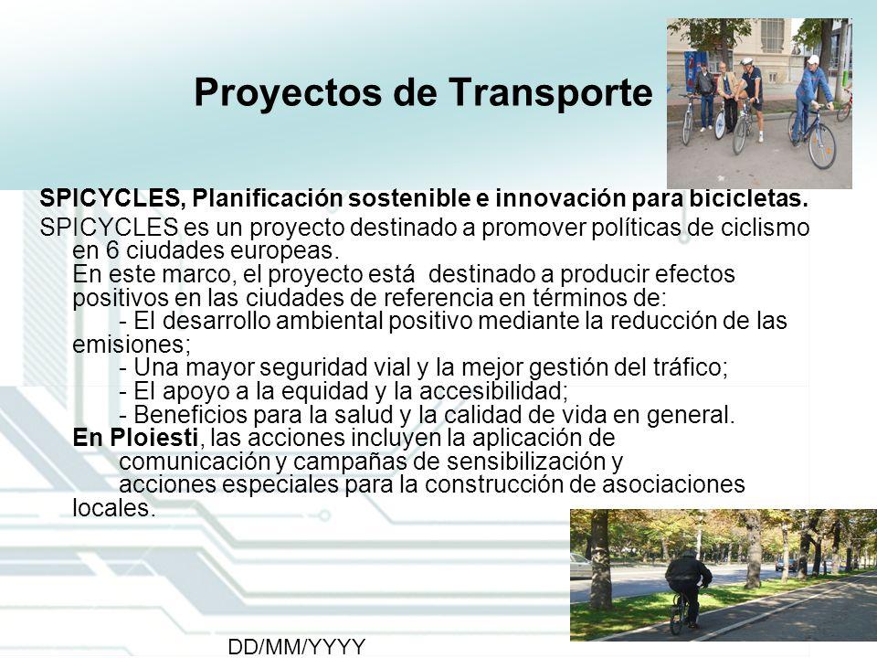 11 DD/MM/YYYY CATS - Type of meeting - Place 11 Proyectos de Transporte SPICYCLES, Planificación sostenible e innovación para bicicletas. SPICYCLES es