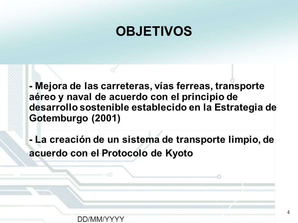 15 DD/MM/YYYY CATS - Type of meeting - Place 15 Futuros Proyectos de Transporte 5.
