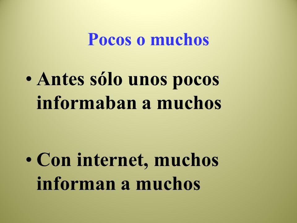 el flujo de la información Antes de internet: E R Después de Internet: E R RS