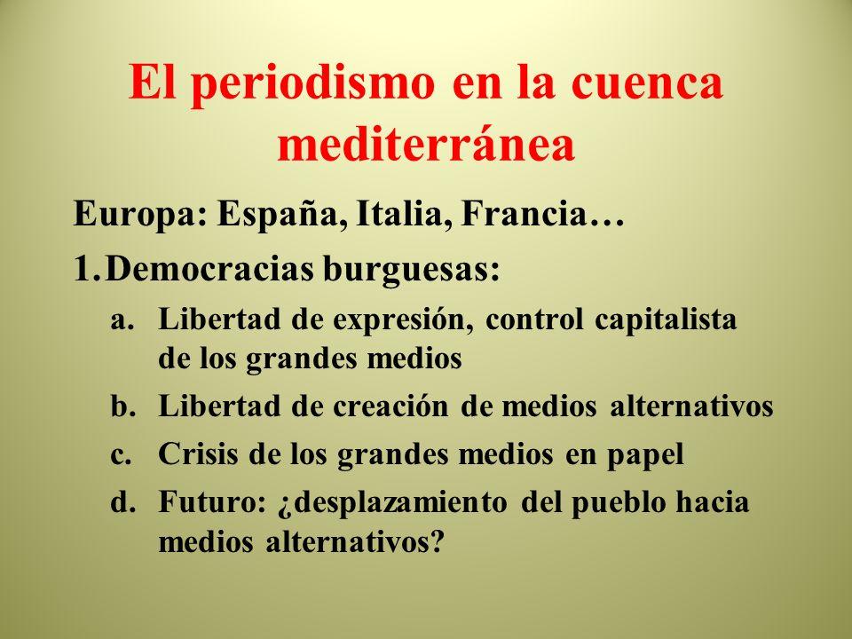 Diarios en la cuenca mediterránea España Francia Italia Marruecos Argelia Libia Túnez