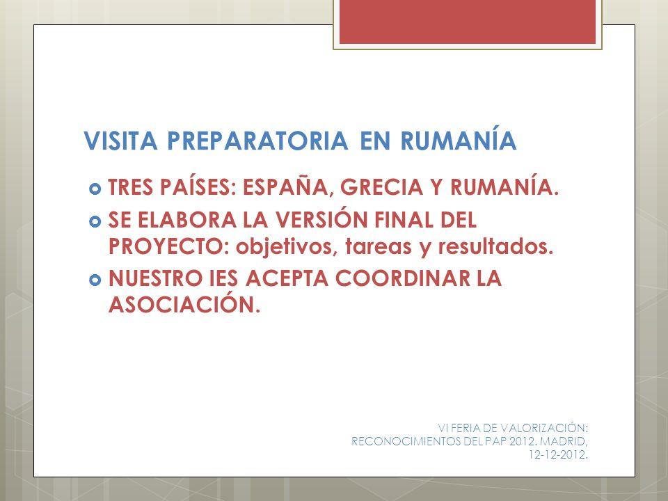 Organización de un simposio internacional en Rumanía con contribuciones de varios países involucrados en proyectos europeos.