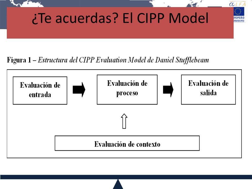 ¿Te acuerdas? El CIPP Model
