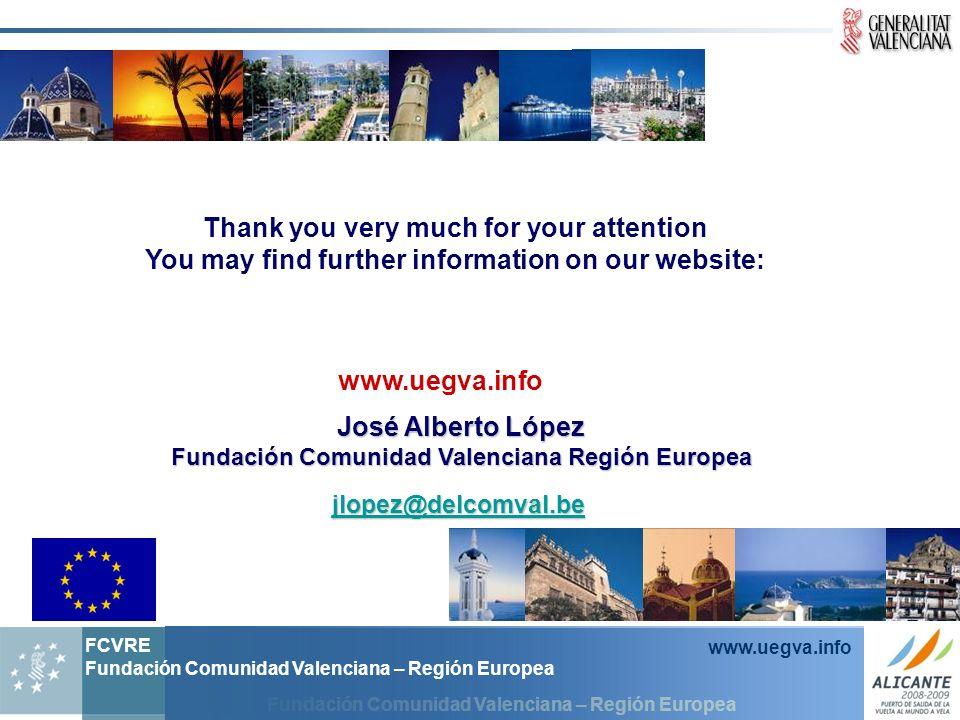 Fundación Comunidad Valenciana – Región Europea FCVRE Fundación Comunidad Valenciana – Región Europea www.uegva.info Thank you very much for your atte