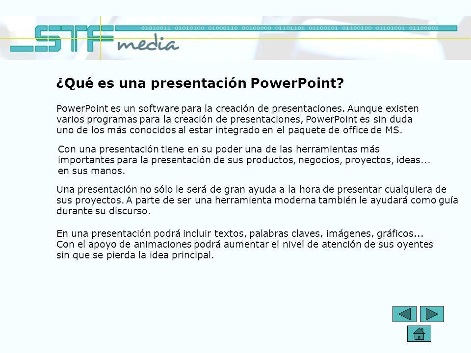 ¿Qué es una presentación PowerPoint.PowerPoint es un software para la creación de presentaciones.