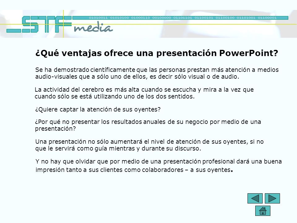 ¿Qué ventajas ofrece una presentación PowerPoint.